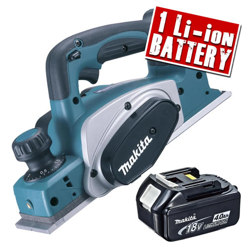Makita DKP180-Z4 Makita 18v Li-ion Planer Body + 1 x  4.0Ah Battery