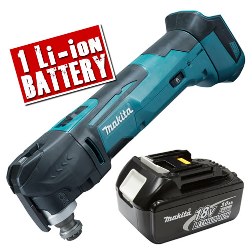 Makita DTM51-Z3 Makita 18v Li-ion Multi-Tool Body + 1 x 3.0Ah Battery