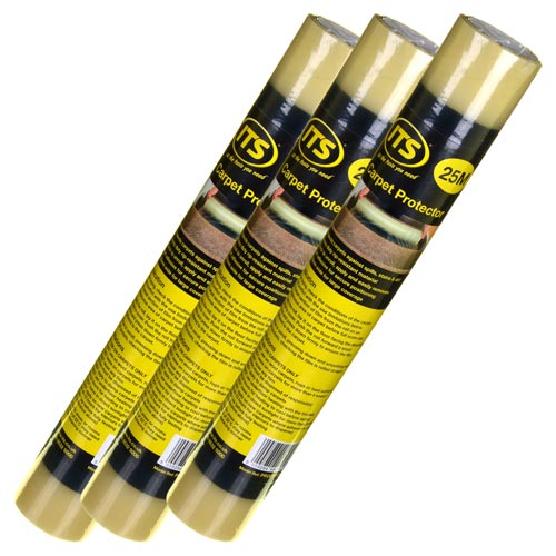 ITS CPR25PK3 ITS 25m Self Adhesive Carpet Protector - Pack of 3