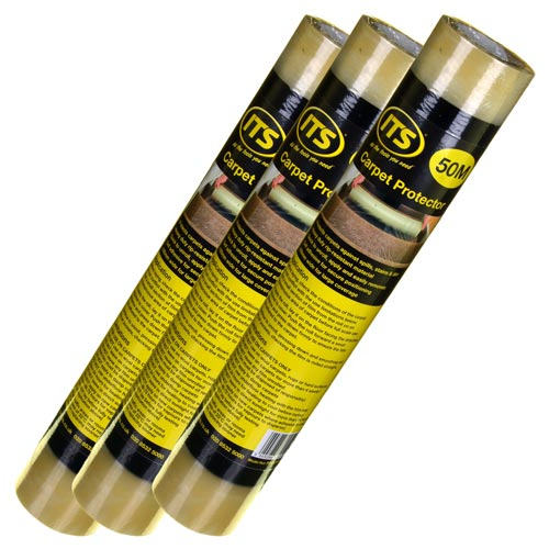 ITS CPR50 ITS 50m Self Adhesive Carpet Protector - Pack of 3