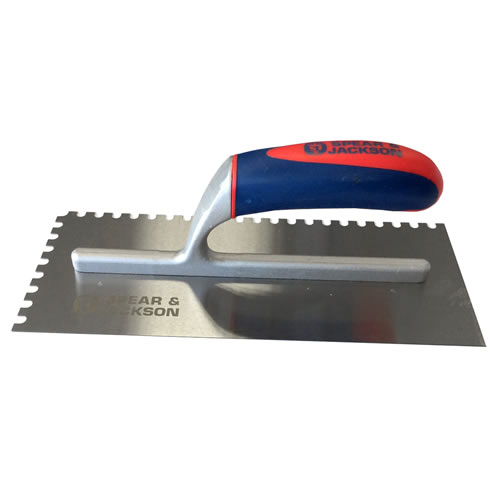 Spear & Jackson TILT6MM Spear and Jackson 11'' Soft Touch Notched Trowel (6mm)