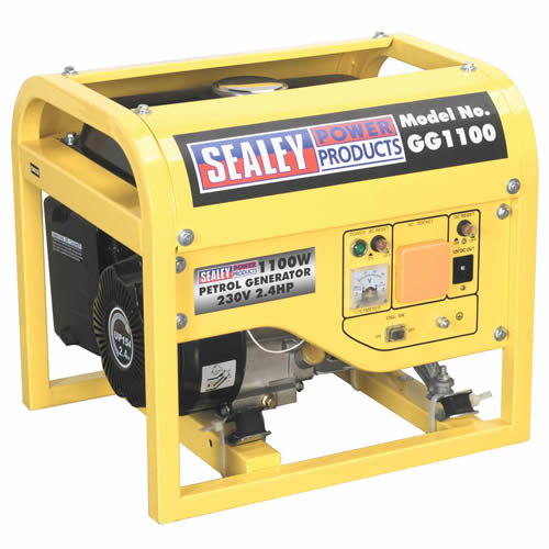 Sealey GG1100 Sealey GG1100 Generator 1100W 2.4HP - 240v