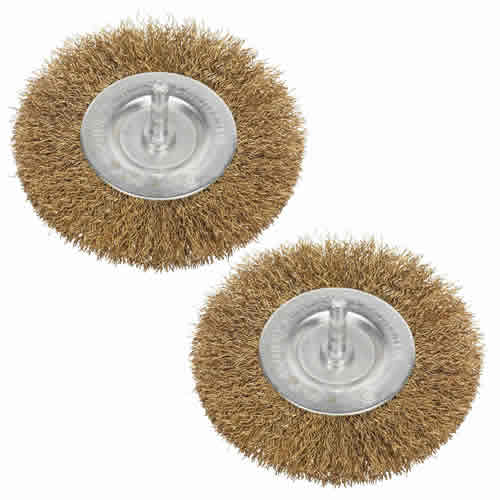 Sealey SFB75 Sealey Ø75mm Flat Wire Brush for Drills Twinpack