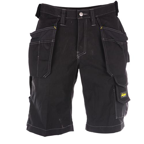 Snickers 30230404 Snickers Craftsmen Holster Pockets Work Shorts (Black)