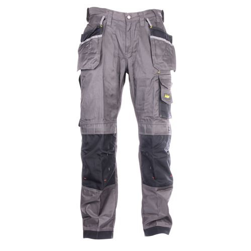 Snickers 32127404 Snickers DuraTwill Trousers With Holster Pockets (Grey/Black)