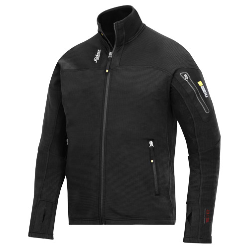 Snickers 94380400 Snickers Body Mapping Micro Fleece Jacket (Black)
