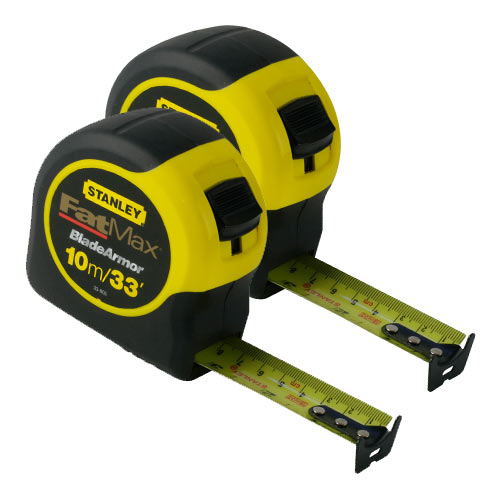 Stanley 0-33-805 Stanley Fat Max Tape 10m/33ft Twin Pack