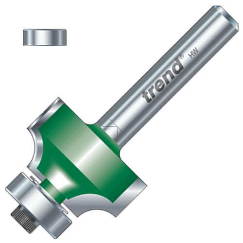 """Trend C076 6.3mm Trend Ovolo/Roundover Cutter (1/4"""" Shank)"""