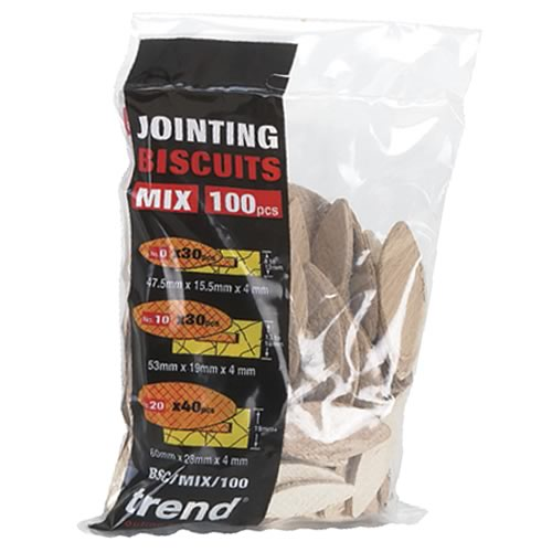Trend BSC/MIX/100 Trend Biscuits Mixed Sizes (Box of 100)