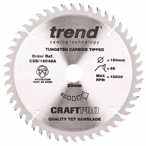 Trend CSB/16048A Trend 160mm Circular Saw Blade for Festool