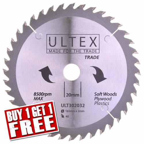 Ultex 302032 Ultex 165mm 40 Tooth TCT Trade Blade