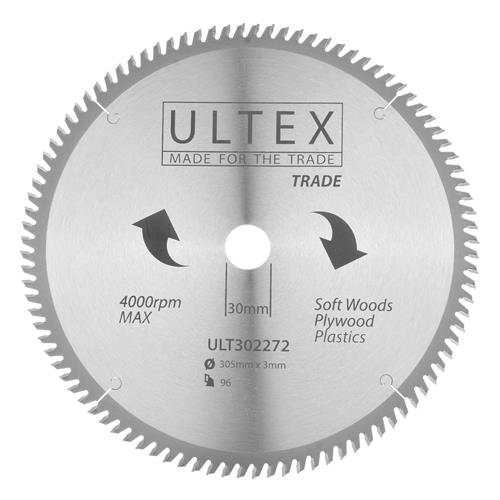 Ultex 302272 Ultex 305mm 96 Tooth TCT Trade Blade