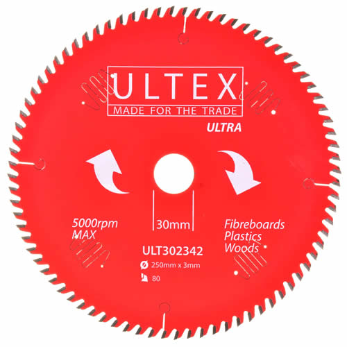 Ultex 302342 Ultex 250mm 80 Tooth TCT Ultra Blade