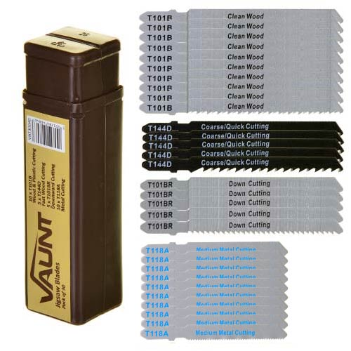 Vaunt 30040 Vaunt Mixed Jigsaw Blades Pack of 30