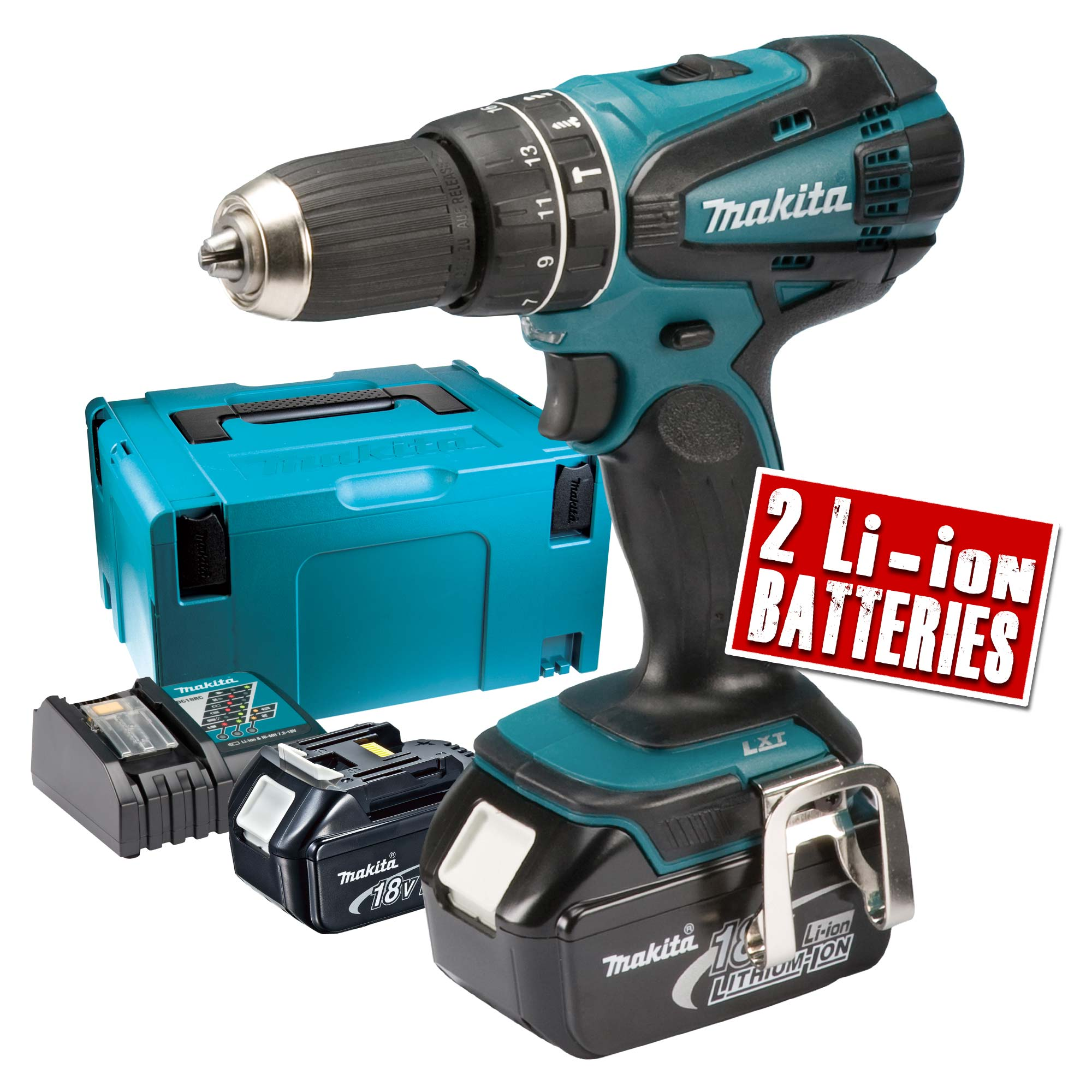 makita dhp456rmj makita 18v cordless hammer drill driver. Black Bedroom Furniture Sets. Home Design Ideas