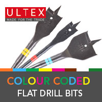 Ultex Colour Coded Flat Drill Bits