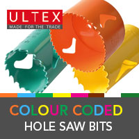Ultex Colour Coded Hole Saw Bits