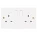 Selectric LG9098-1E Selectric 13A 2 Gang Single Pole Switched Double Socket Outlet - Pack of 5_Alt_Image_1