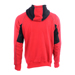 Snickers 28151604 High Neck Logo Hoodie - Red_Alt_Image_3