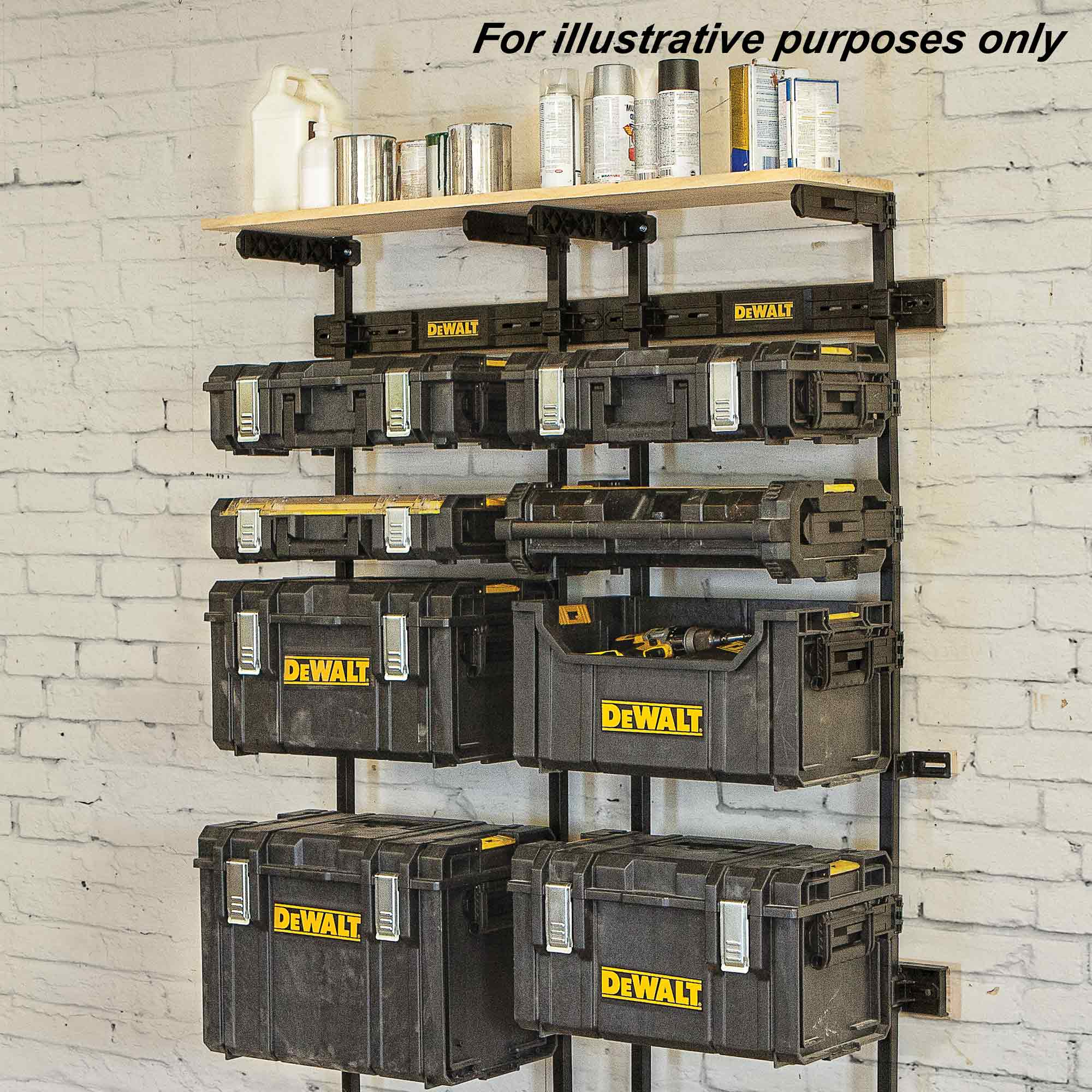 dewalt tough system wall mount. dewalt dwst1-75694 toughsystem workshop racking system_alt_image_3 tough system wall mount r