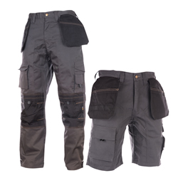 Apache SHRTTRSERSET Shorts & Work Trousers Set - Black/Grey