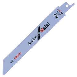 Bosch BIM 150mm Reciprocating Blades S922BF (Flexible for Metal) - Pack of 5