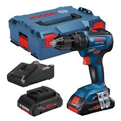 Bosch GSB18V55PC2 18V Brushless Combi Drill With 2 x 4ah Pro Core Batteries, Charger and Case