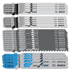 Bosch 25 Piece Jigsaw Blade Set (Wood & Metal)
