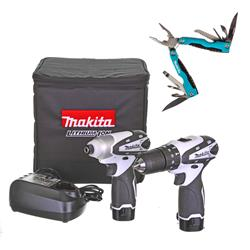 Makita  10.8V 2 Piece Kit and Pocket Multi-Tool Box Bundle