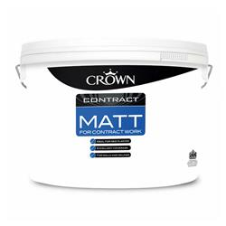 Crown 5090759 Contract Matt Brilliant White - 10L