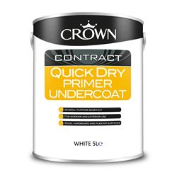 Crown 5093615 Quick Dry Primer Undercoat White - 5L