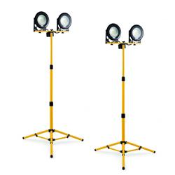 Defender E204060 DF1200 240v Double Head Tripod LED Light 13A Pack of 2
