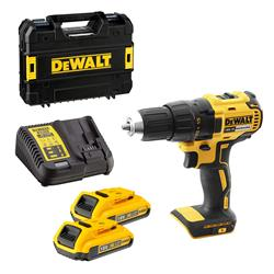 Dewalt DCD777D2 Dewalt 18v XR Brushless Drill Driver with 2 x 2Ah Batteries, Charger and Case