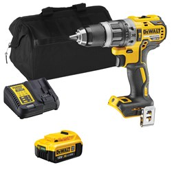 Dewalt DCD796ITS 18v XR Brushless Combi Drill with 1 x 4Ah Battery, Charger and Bag