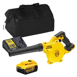 Dewalt DCV100ITS 18v XR Blower with 1 x 4Ah Battery, Charger and Bag