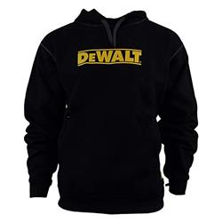 Dewalt DWC47BLK Logo Hooded Sweatshirt - Black/Yellow