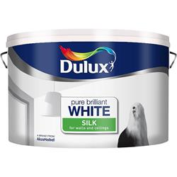 Dulux  Dulux Pure Brilliant White Luxurious Silk Paint (10 Litre)
