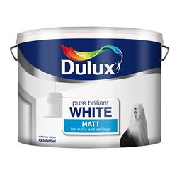 Dulux  Dulux Pure Brilliant White Rich Matt Paint (10 Litre)
