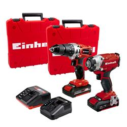Einhell  Einhell 18V Combi Drill and Impact Driver, with 1 x 1.5Ah & 1 x 2Ah batteries, Chargers and Case