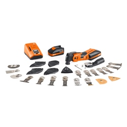Fein AMM 700 Max Top Cordless Multimaster, 2x 3.0Ah Batteries, Charger, Case & 60 Accessories