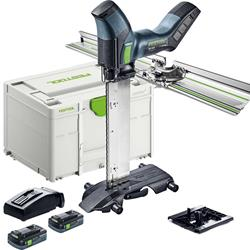 Festool ISC 240 HPC 4.0 EBI-Plus-XL-FS Festool Cordless Insulating-Material Saw ISC 240, 2x 2.0Ah Batteries, Angle Stop, Charger & Case