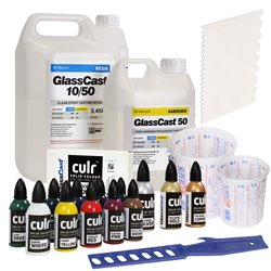 Glass Cast  GlassCast 50 Clear Epoxy Casting Resin Starter Kit - 5kg