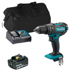 Makita DHP482ITS 18v LXT Combi Drill with 1 x 3Ah Battery, Charger and Bag
