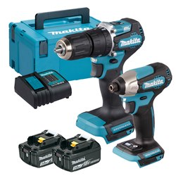 Makita DLX2414SJ Makita DLX2414SJ 18V LXT 2 Piece Brushless Kit with 2x 3.0Ah Batteries, Charger and Case
