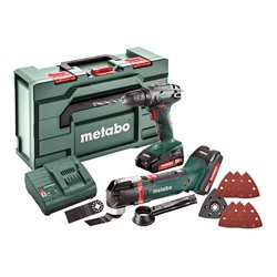 Metabo 2.6.1 18V Metabo COMBO SET 2.6.1 18V 2 Piece kit, comes with 2 x 2Ah Batteries, Charger and Case