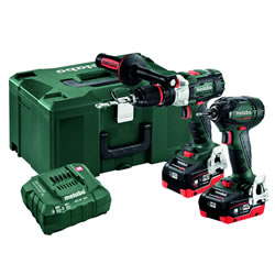 Metabo 685127000 Metabo 685127000 18V Brushless 2 Piece Kit with x 5.5Ah Batteries, Charger and Case