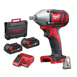 """Milwaukee M18BIW12-202C Milwaukee M18BIW12-202C M18 1/2"""" Impact Wrench with 2 x 2Ah Batteries, Charger and Case"""
