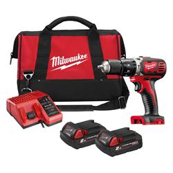 Milwaukee M18 DPD202-B Milwaukee M18 DPD202-B 18V Combi Drill Set, with 2 x 2Ah Batteries, Charger and Bag