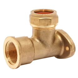 """Pegler 903104 Mercia 15mm x 1/2"""" Backplate Elbow Compression Fitting"""