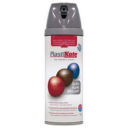 Plastikote 21101 Twist & Spray Gloss 400ml Medium Grey